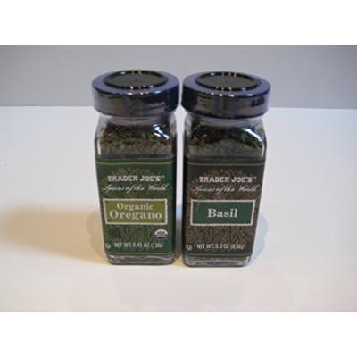 Trader Joe's Spices of the World Organic Oregano .45 Oz & Basil .3 Oz Bundle