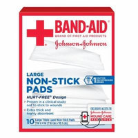 Band-Aid First Aid Covers Non-Stick Pads, Large 10 ea Pack of 5