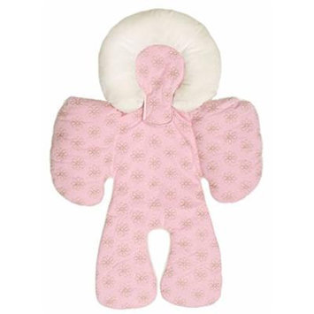 Pink - Baby Head and Body Support Pillow Warm Strollers Nursing Pillow Warm Car Seat Baby Pillow Cushion for Winter&summer