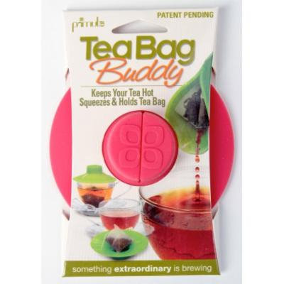 Epoca Silicone Tea Bag Buddy and Cup Cover Lid, 2-Pack, Pink