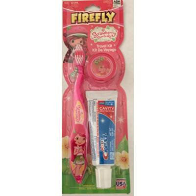Strawberry Shortcake Firefly Pink Toothbrush Travel Kit with Crest Toothpaste