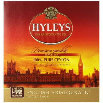 Hyleys Tea English Aristocratic Black Tea, 100-Count Bags (Pack of 6)