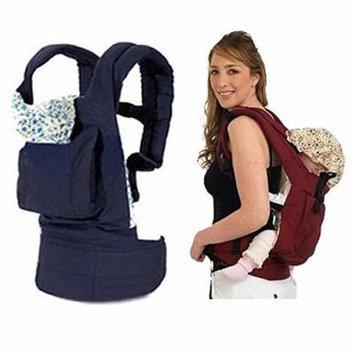 Hot Newborn Kid Adjustable Infant Baby Carrier Sling Wrap Rider Comfort Backpack (Blue)