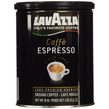Lavazza Caffe Espresso Ground Coffee, 8-Ounce Can (Pack of 2)