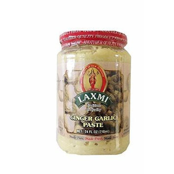 Laxmi Ginger Garlic Paste (Made Pure, Made Fresh, Made Here) - 24 Fl. Oz., 710ml