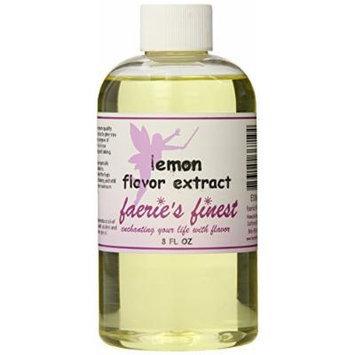 Faeries Finest Flavor Extract, Lemon, 8 Ounce