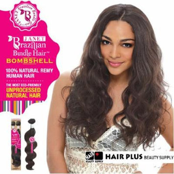 Janet Collection 100% Unprocessed Remy Human Hair Weave - BRAZILIAN BOMBSHELL BODY WAVE 12-14