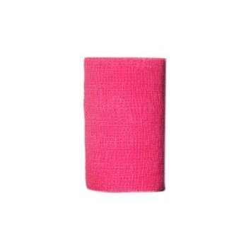 Andover Powerflex 3740 Cohesive Medicinal Tape, 4-Inch/6-Yard, Neon Pink