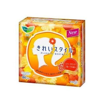 Kao Laurier KIREI-Style Panty Liners SCENTED ( Sparkling Fruit ) - 80 pads
