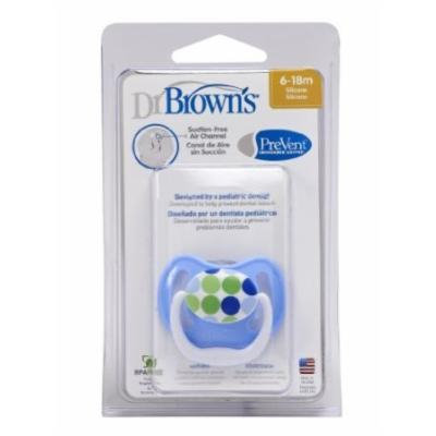 Dr Brown's Natural Flow PreVent Soother (6-18 Months, Blue Dots)