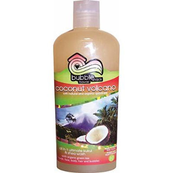 Hawaii Bubble Shack All in 1 Ultimate Kukui & Shea Body Wash Coconut Volcano 2 Bottles