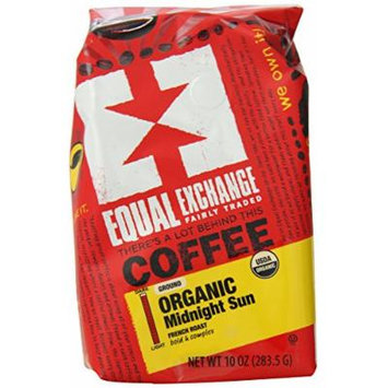 Equal Exchange Organic Midnight Sun Ground Coffee, 10 Ounce (Pack of 6)