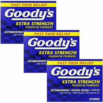 Goody's Extra Strength Headache Powder, 50 Count (Pack of 3)