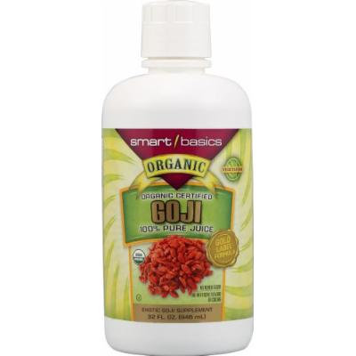 Smart Basics Organic Certified 100% Pure Goji Berry Juice -- 32 fl oz