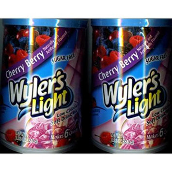 Wylers CHERRY BERRY Drink Mix (2 Canisters) Make 12 Quarts Total