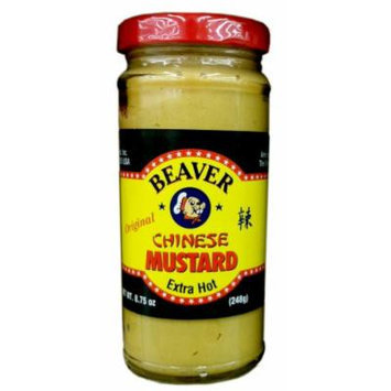 Beaver Original CHINESE MUSTARD Extra Hot 8.75oz (Single)