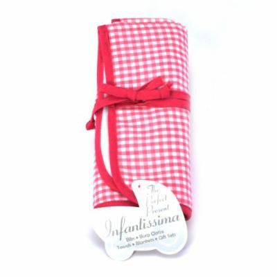 Infantissima Changing Pad, Gingham Shocking Pink