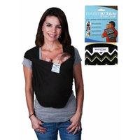 Baby K'Tan Bundle - 2 items: Baby Carrier - Medium (Black) AND K'Tan Cloth (Zig Zag)