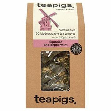 teapigs Liquorice and Peppermint Tea, 50 Count