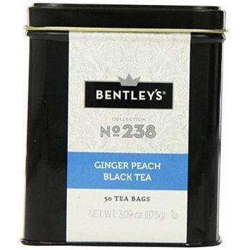 Bentley's Ginger Peach Tea, 50 Count (Pack of 6)