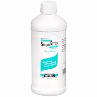 Humco Simple Syrup 16 oz Per Bottle (4 Bottles)