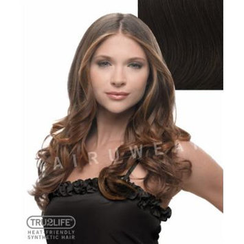 Tru2Life Styleable Extensions - 23 Inch Wavy Clip In Extension - R6-Dark Chocolate/Medium Brown