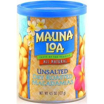 Mauna Loa Dry Roasted Unsalted Macadamia Nuts, 4.5-Ounce Can
