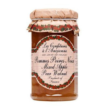 Apple Pear Walnut Jam Andresy All natural French jam pure sugar cane 9 oz jar Confitures a l'Ancienne, One