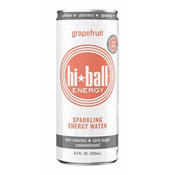 Hiball Energy Sparkling Water, Grapefruit, 8.4 Ounce (Pack of 24)