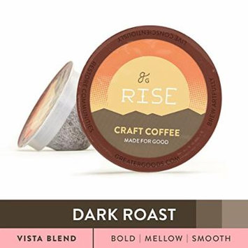 Specialty Grade Coffee For Keurig K-Cup Brewers: 72-Count Dark Roast Vista Blend. 1.0 and 2.0 Compatible. Premium Quality, Eco-Friendly 100% Arabica Single-Serve Coffee by Greater Goods