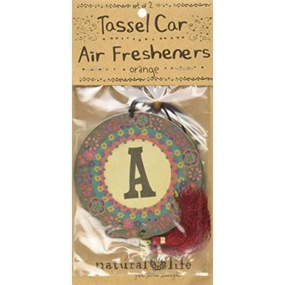 Natural Life Initial Air Fresheners A, Ocean, 2 Count