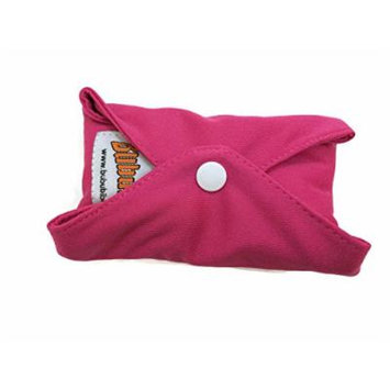 4 BubuBibi Maxi Night Bamboo Mama Cloths Menstrual Reusable Sanitary Liner Pads (Dark Pink)