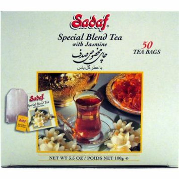 Sadaf Special Blend tea Jasmine, 50-Count (Pack of 4)
