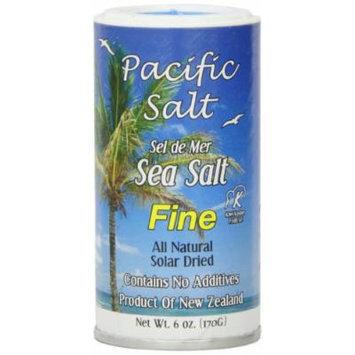 Pacific Salt Fine New Zealand Sea Salt, 6-Ounce (Pack of 6)
