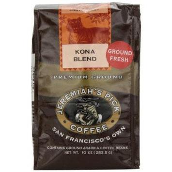 Jeremiah's Pick Coffee Kona Blend Ground Coffee, 10 Ounce Bag