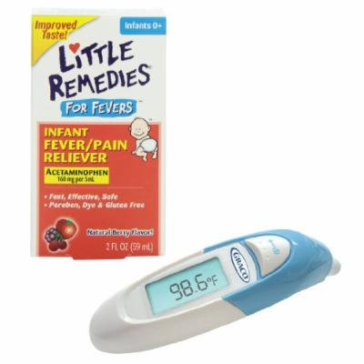 Little Remedies Fever Pain Reliever with 1-Second Ear Thermometer