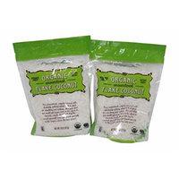 Trader Joe's Organic Unsweetened Flake Coconut USDA Organic 8oz Bag (Pack of 2)