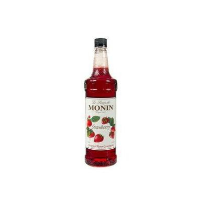 Monin Flavored Syrup, Strawberry, 33.8-Ounce Plastic Bottle (1 liter)