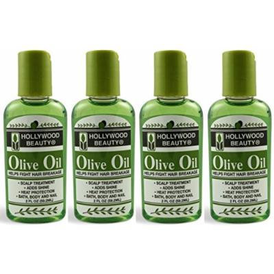 Hollywood Beauty Olive Oil, 2 Oz (Pack of 4)