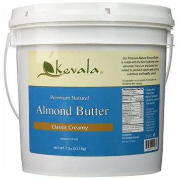 Almond Butter Creamy, Kevala, 7 Lbs Pail