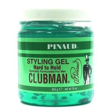 Clubman Style Gel Hard To Hold 16 oz. Jar For Men (3-Pack) with Free Nail File