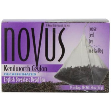 Novus English Breakfast Decaffeinated, 12 Count Tea Bags
