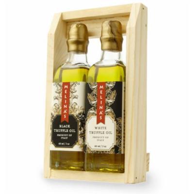 Melina's Truffle Oil Mini Gift Set, Black and White