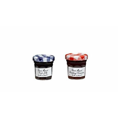 Bonne Maman Duo Mini Jars - 1 Oz X 30 Pcs (15 Strawberry, 15 Grape)