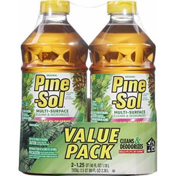 Pine-Sol Multi-Surface Cleaner, Original Scent, Two Count Bottle, 80 fl oz Total
