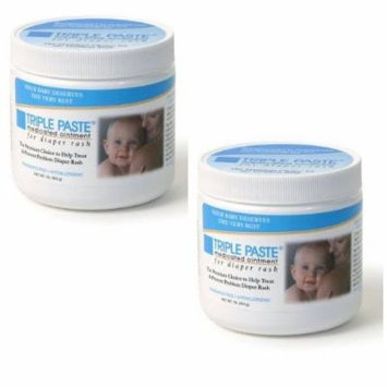Triple Paste Medicated Ointment for Diaper Rash, 8-Ounce - Two Pack