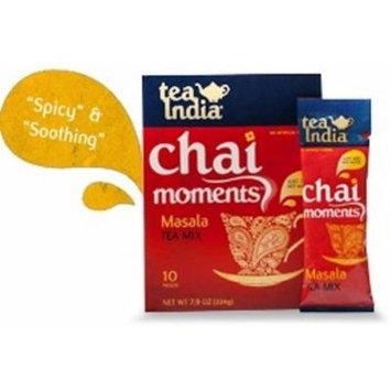 Tea India Masala Tea Mix - Chai Moments Masala Tea 10 Instant Tea Packets