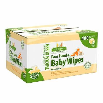 Babyganics Face, Hand & Baby Wipes, Fragrance Free 400 ea