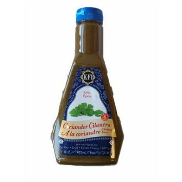 KFI Coriander Cilantro Chutney Sauce, Spicy, 15.4 fl-Ounce Bottles (Pack of 3)
