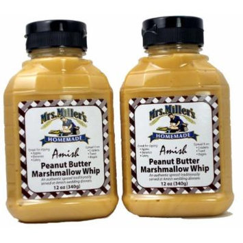 Amish Peanut Butter Marshmallow Whip - 2 / 12 Oz. Bottles, Mrs Millers Brand